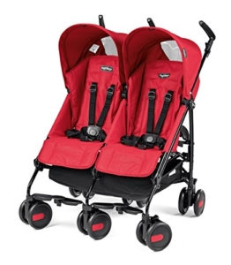 Peg Perego DPMTA1MRED Zwillingsbuggy Pliko Mini Twin, rod red -
